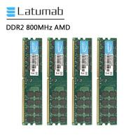 Latumab RAM DDR2 4GB 8GB 800mhz PC2-6400 for AMD CPU Chipset Motherboard Memory RAM 240 Pins 1.8V PC Memory RAM Module