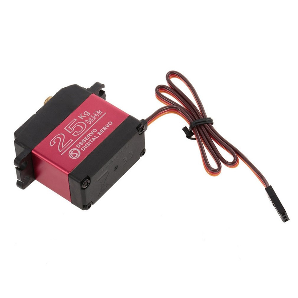 Ds3225Mg Waterproof Digital Servo 180 Degree Red Orange Brown Line Sequence Speed Control Brushed Esc Dual Mode enlarge