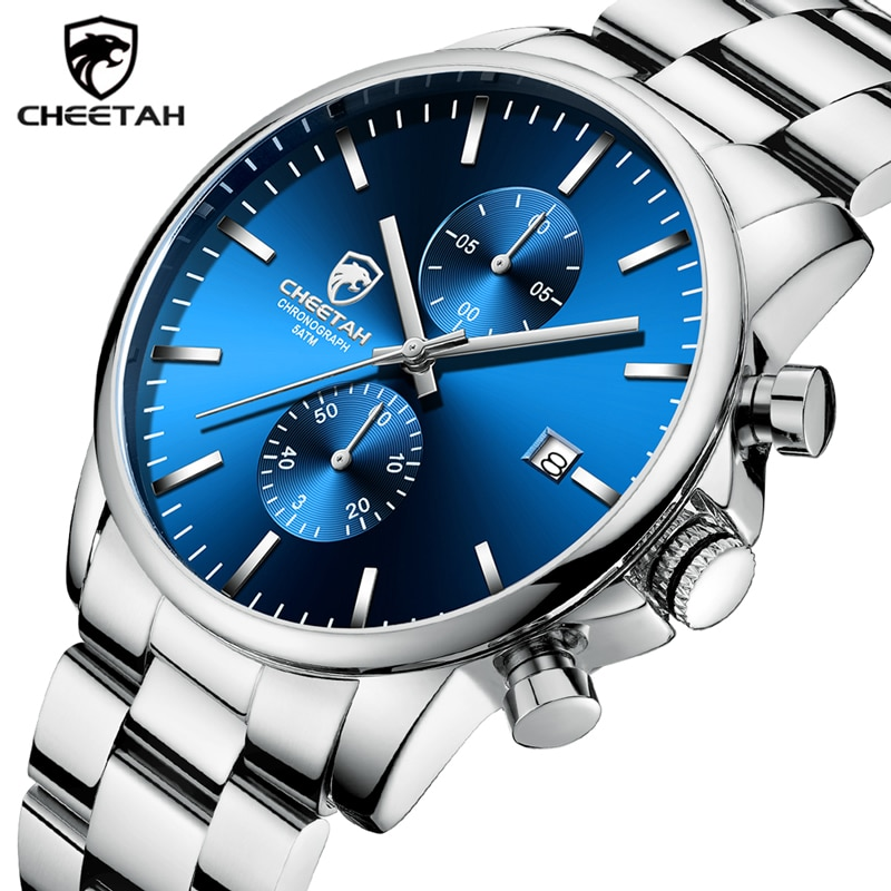 Men Watch CHEETAH Top Brand Luxury Business Quartz Wristwatch Fashion Stainless Steel Sports Waterproof Clock Relogio Masculino men s watch luxury business stainless steel band quartz watch men white dial calendar fashion clock wristwatch relogio masculino