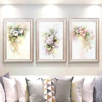 nordic watercolor rose flower canvas painting vintage home decoration posters and prints classical wall art picture for bedroom