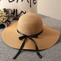 summer straw hat woman beach sun hats leisure journey outdoors vacation accessories uv protection big brimmed hat