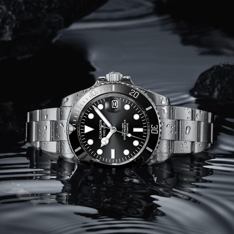GUANQIN-2021-NH35A Japanese Mechanical Movement Business Fashion Men's Watch Mechanical Automatic Watch 100M Waterproof Sports enlarge