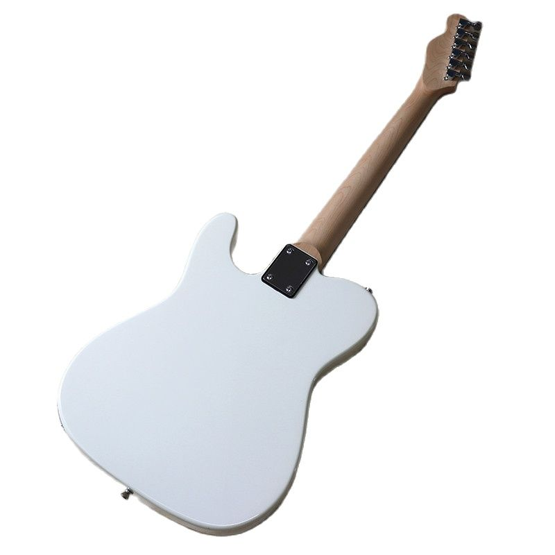 White TL 6 String Electric Guitar 39 Inch TL Solid Basswood Body High Gloss Full Wood 22 Frets Wood Guitar Bolt On enlarge