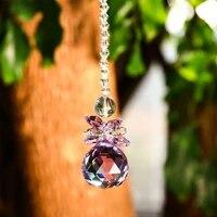 sun angel nice dream sun catcher feng shui crystals suncatchers chandelier crystal prism drops for home office garden decoration