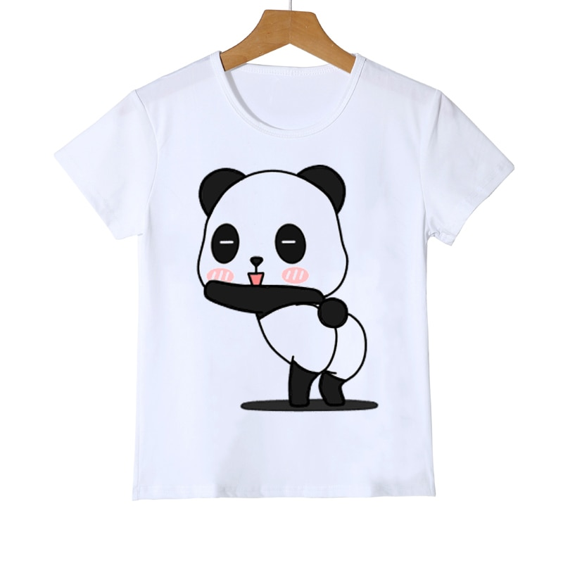 boys animal print t shirt T-shirts for boys funny panda animal cartoon print boys/girls t shirt summer white tops cartoon t shirt kids Birthday costume