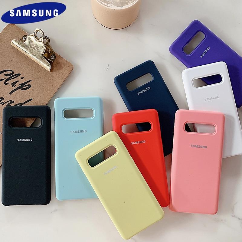 Color caramelo Samsung S8/S8 Plus/S10/S10 Plus/S10E Liquid Slicone funda sedosa suave-Touch Shell a prueba de golpes cubierta de protección trasera