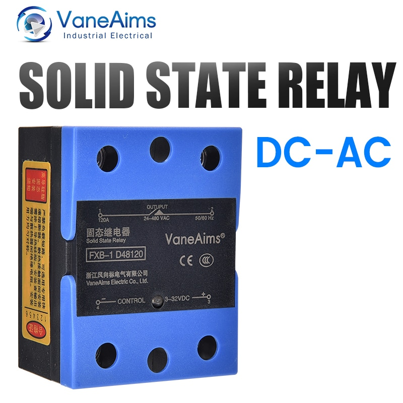 New Solid State Relay Flip Cover FXB-1 10A25A40A60A80A100A120A High-Quality DC Control AC Free Thermal Grease Single-Phase Relay