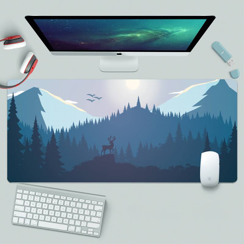 Deep forest firewatch Rubber PC Computer Gaming mousepad XL Large Gamer Keyboard PC Desk Mat Takuo Computer Tablet Mouse mat