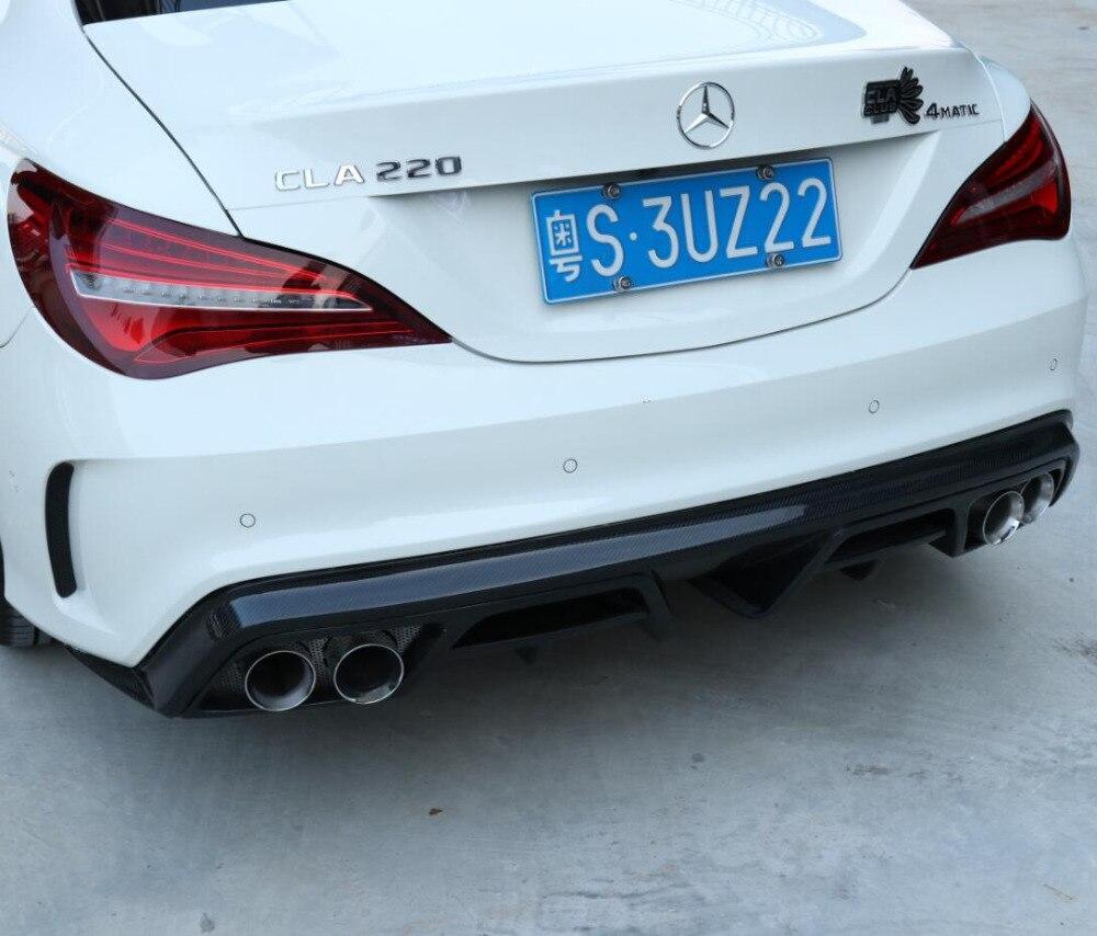 De fibra de carbono parachoques trasero labio Auto difusor se adapta para 13-18 Mercedes-Benz CLA 45 W117 C117 de la CIA, 200, 250, 260, 2013-2018