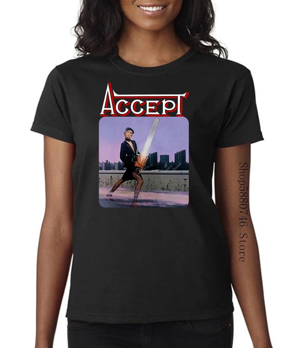Acepta 1979 camiseta negra Heavy Metal Udo Saxon Krokus Warlock
