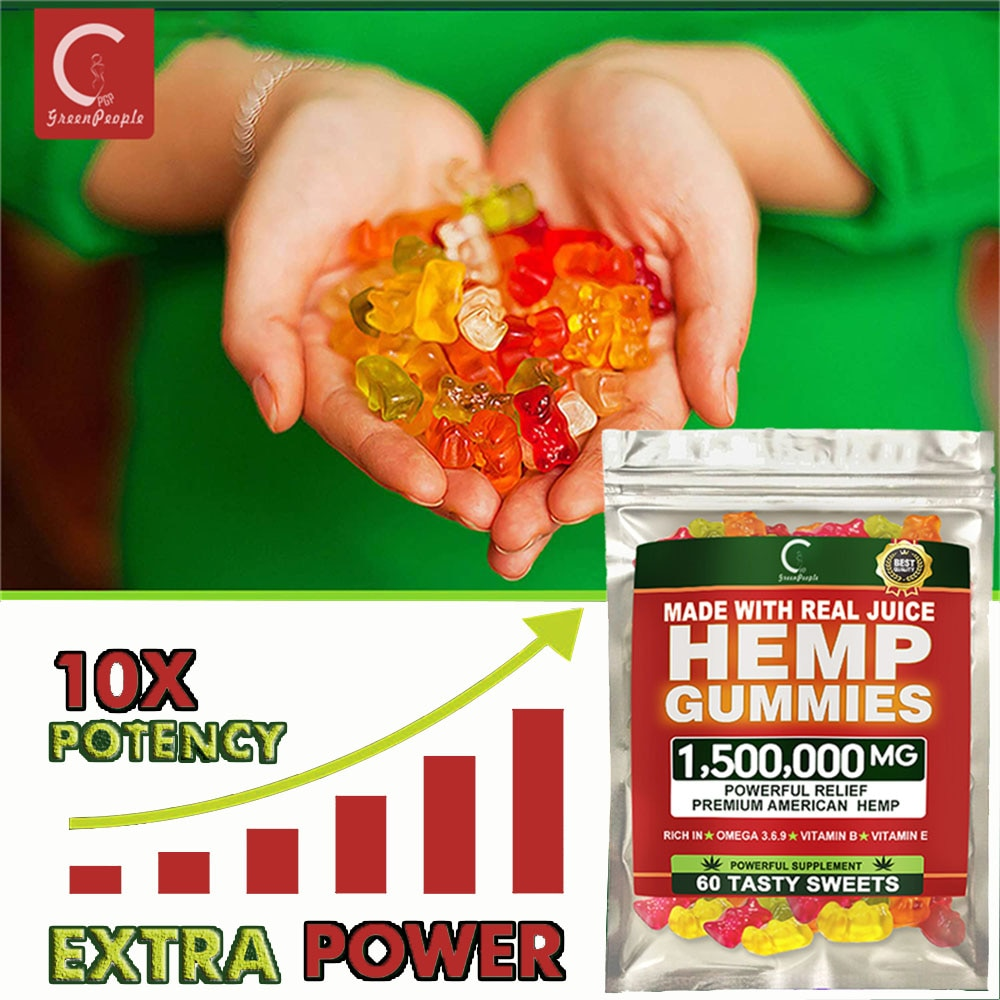 GPGP Greenpeople Hemp Gummies For Anxiety And Stress Relief Rich in vitamins B / E Help Better Sleep CBD Gummy Bear
