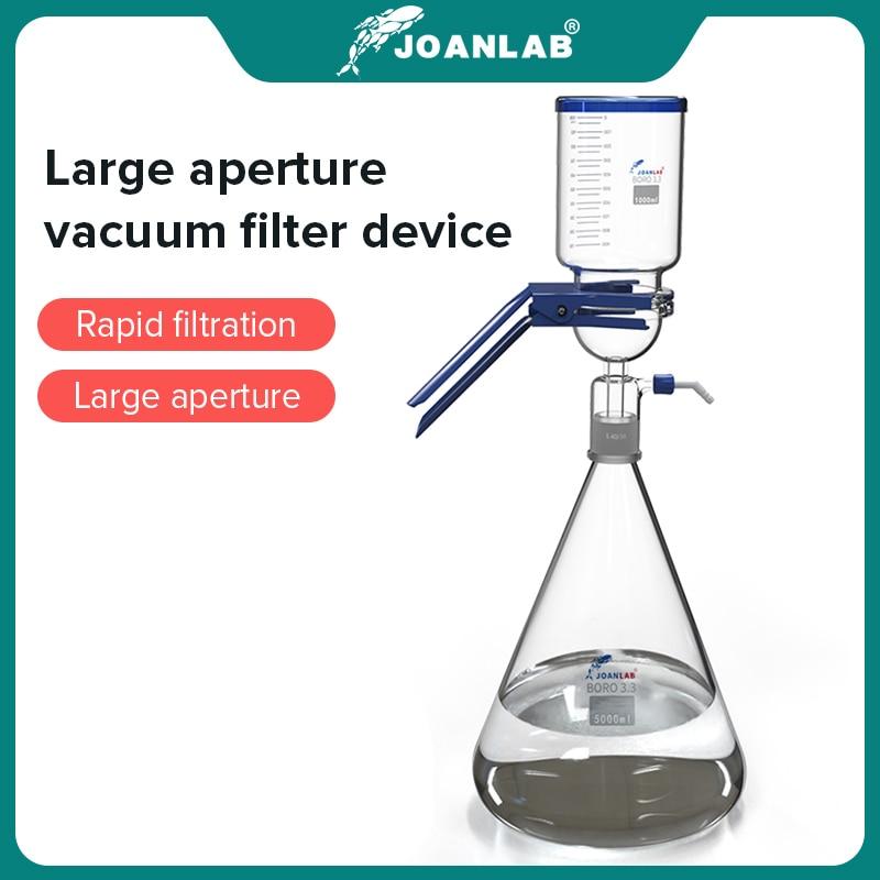 Лабораторное оборудование для вакуумной фильтрации JOANLAB 2 л/5 л, аппарат большого диаметра, оборудование для лабораторного стекла, мембранны...