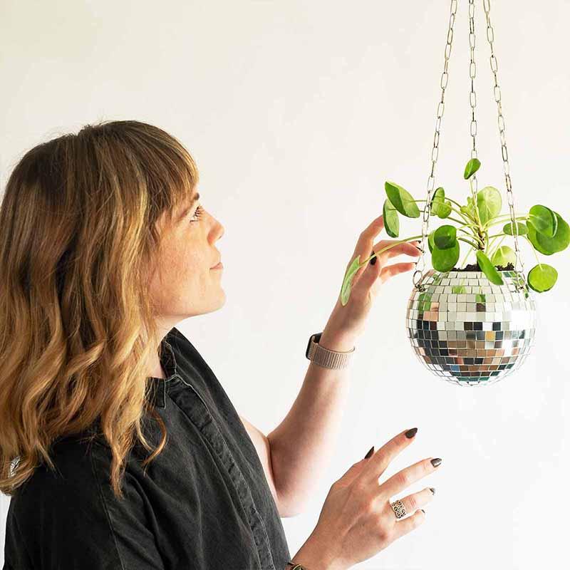 Mirror Hanging Basket Resin Hang Plant Flower Pots Pot For Wall Outdoor Garden Decoration Countyard