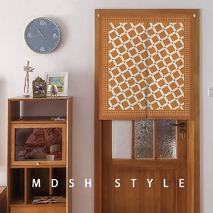 American Lattice Windshield Door Drapes Free Perforated Half Curtain Geometry Household Decoration Kitchen Partition Custom #4