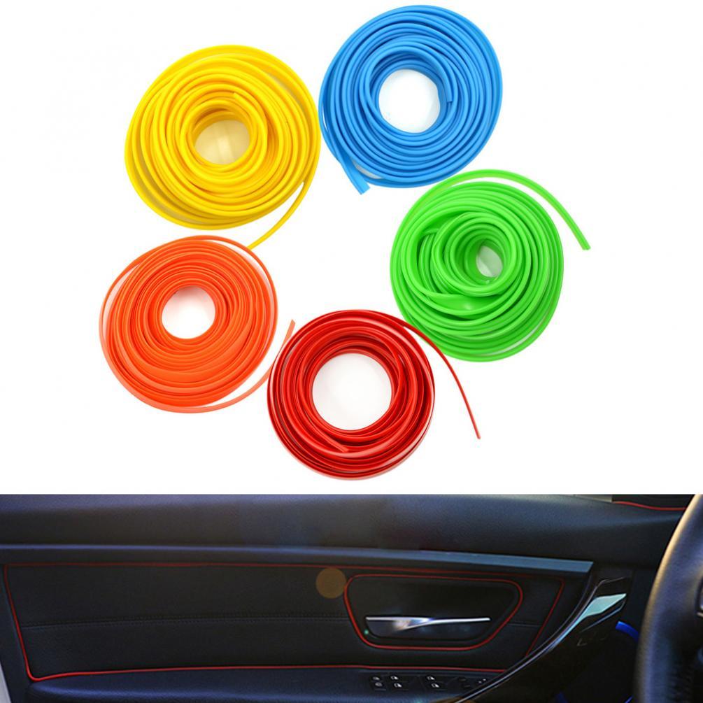 5 м универсальные самодельные автомобильные наклейки 5 цветов Стайлинг гибкая внутренняя отделка Литье отделка декоративные полосы линия