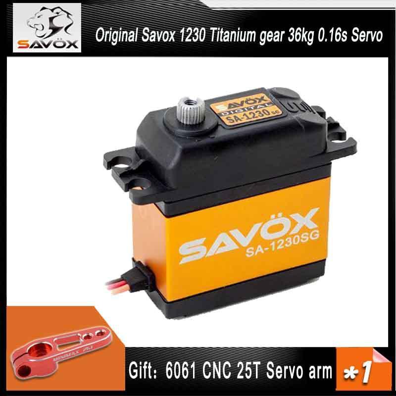 SAVOX SA-1230SG Titanium gear 36kg 0.16s servos for 1/10 1/8 baja Buggy Monster truck Crawler Scale Truggy