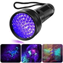 51 LED lampe de poche UV 395NM lampe torche lampe ultraviolette détecteur de lumière noire pour la détection de marqueur de tache danimal de compagnie