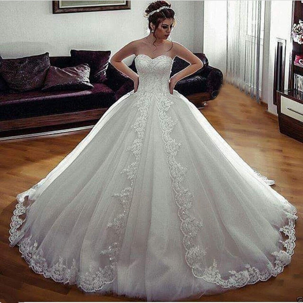 De talla grande Vestido De boda árabe Vestido De Novia De princesa...