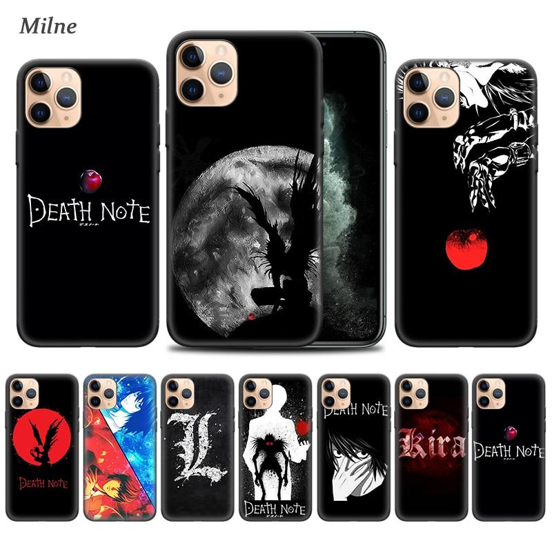 Fundas de móvil de Death Note Anime para Apple iphone 11 Pro XS Max XR X 7 8 6 6S Plus 5 5S SE 5C, carcasa negra suave de móvil de Tampa ape