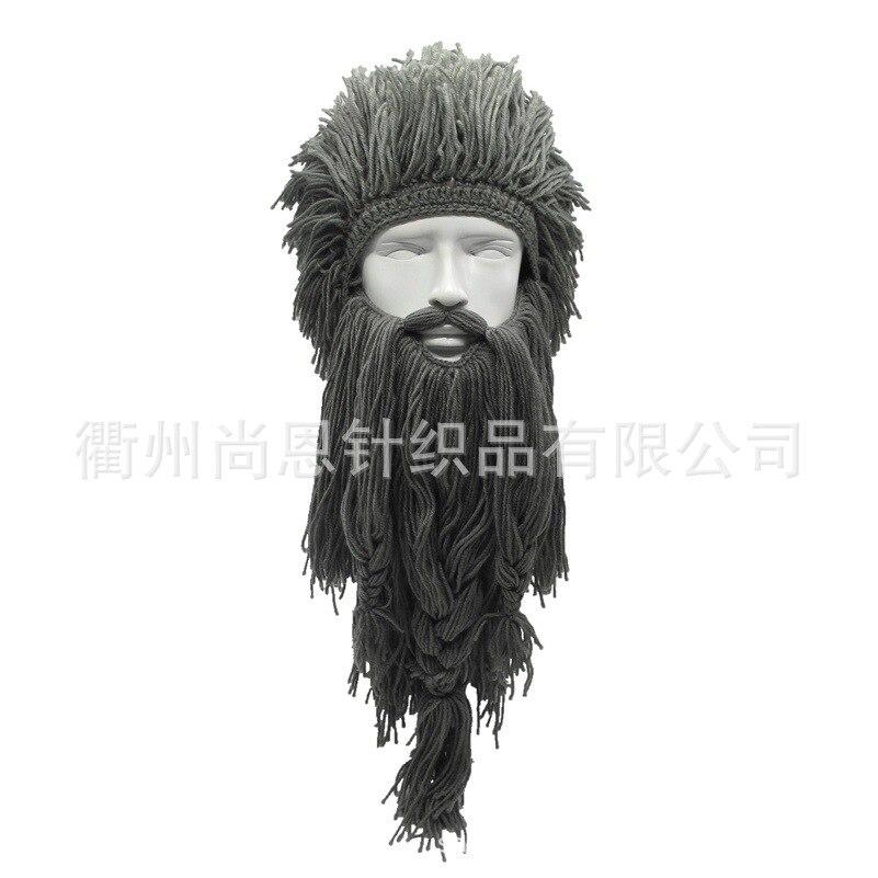 Creative Warm Wig Hat. Viking Long Beard Sweater Hat. Autumn and Winter Warm Amazon Savage Hat. Tiktok Skiing Cap