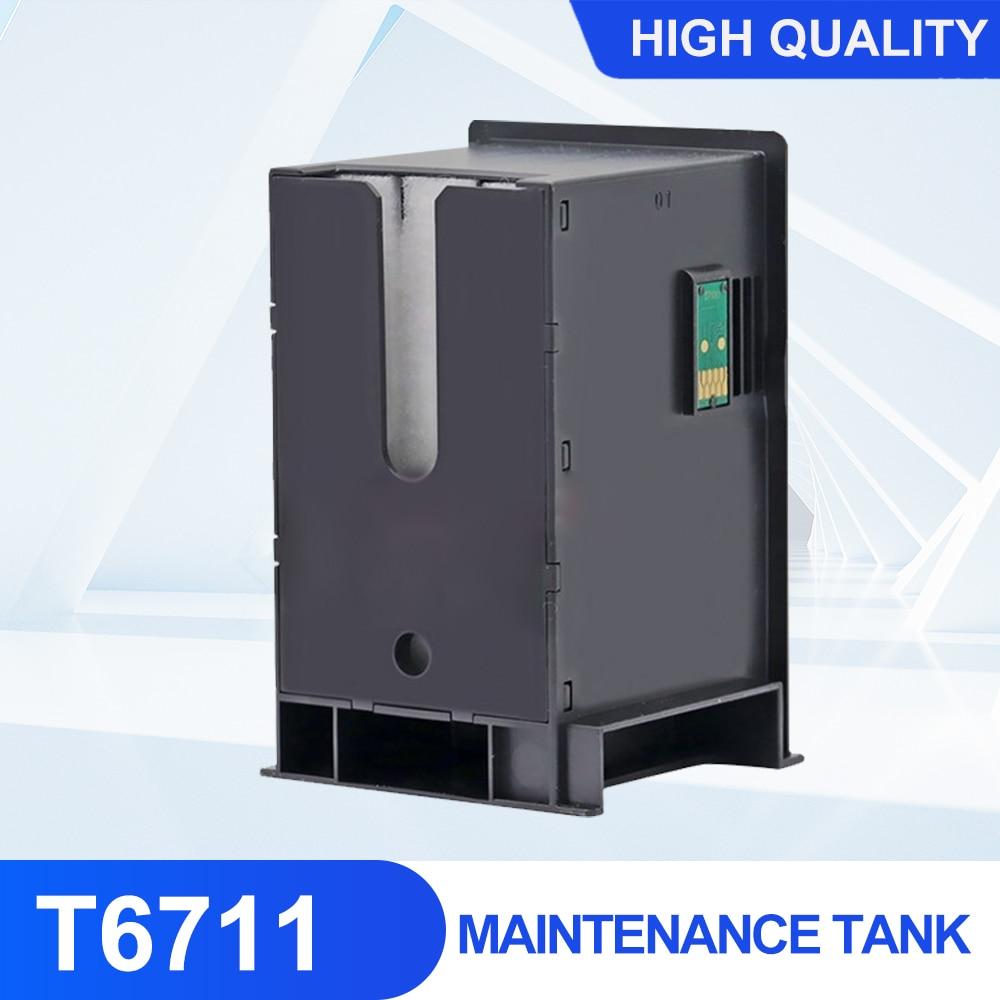 Фото - T6711 Waste Ink Tank  Maintenance Tank With Chip For Epson Workforce WF3520 WF3540 WF3620 WF7110 WF7210 WF7510 WF7610 WF7620 WF7 ocbestjet maintenance tank resetter for