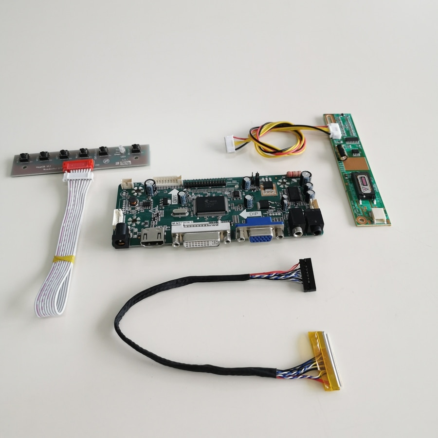 ل LP121X04-B2P2/C2K2 شاشات كريستال بلورية M.NT68676 عرض تحكم كارت قيادة DVI VGA CCFL LVDS 20-Pin 1024*768 12.1