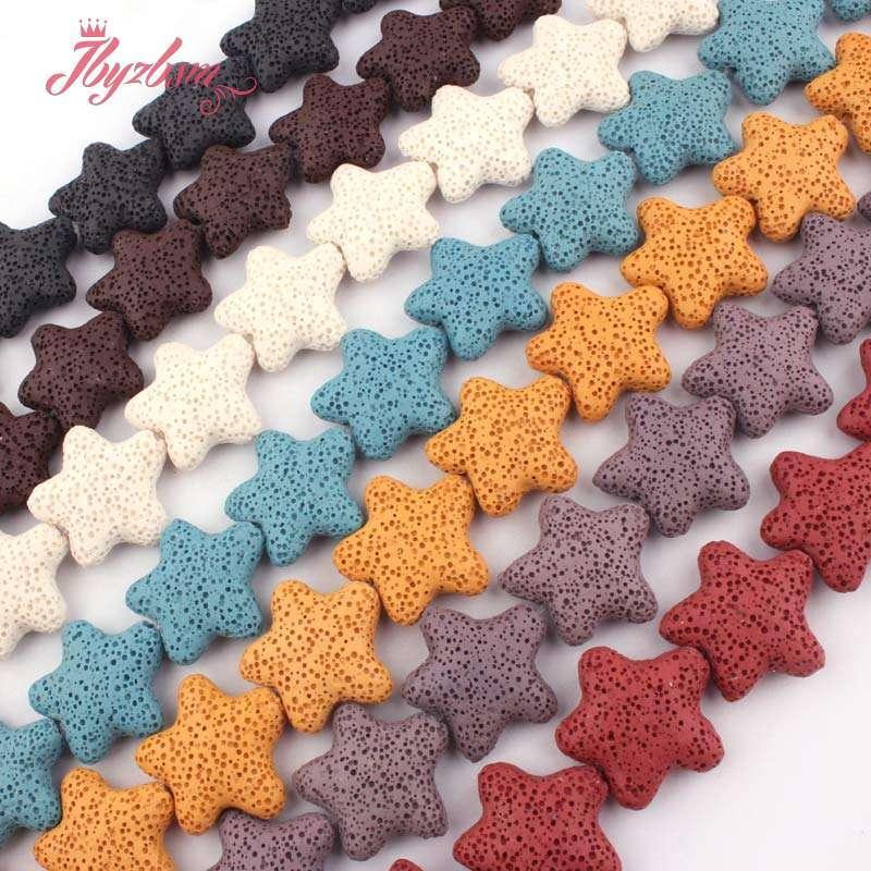 25-мм-гладкой-звезды-Форма-покрытие-из-вулканического-камня-из-натурального-камня-бусины-для-изготовления-ожерелья-сделай-сам-bracelat-серьги