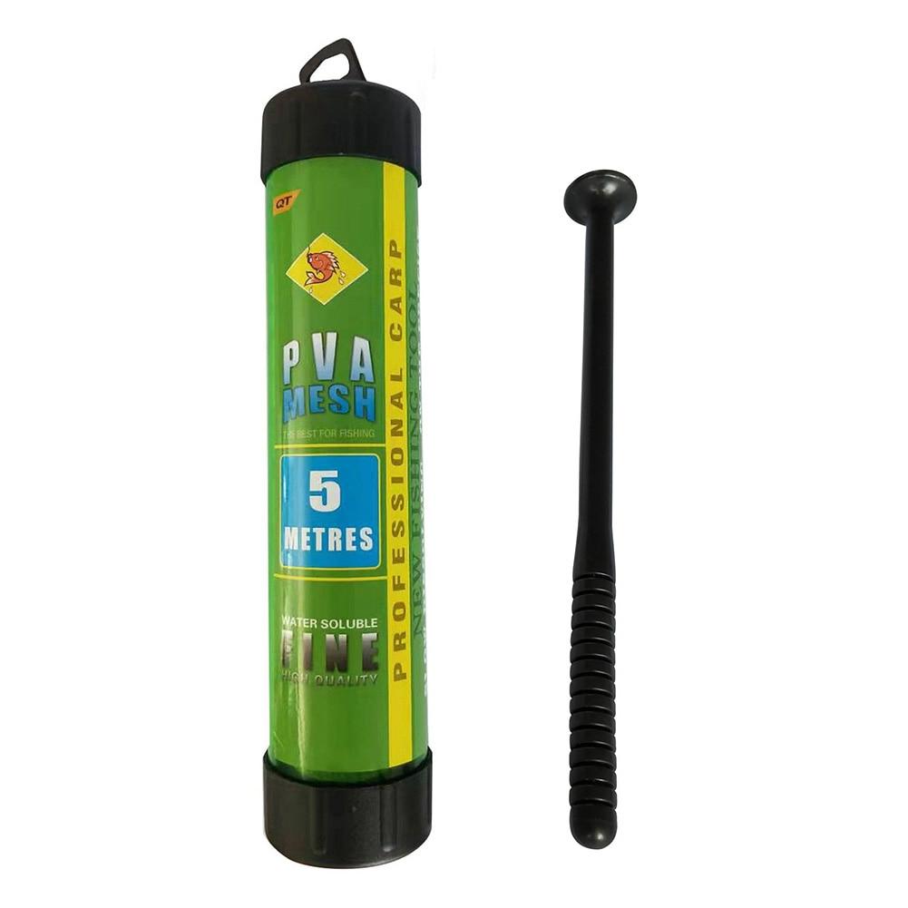 5m 2.5/3.7cm Water Dissolving PVA Narrow Mesh Tube Net Carp Fishing Feeder Lures Refill Plunger Bar Tackle Carp Fishing Feeder