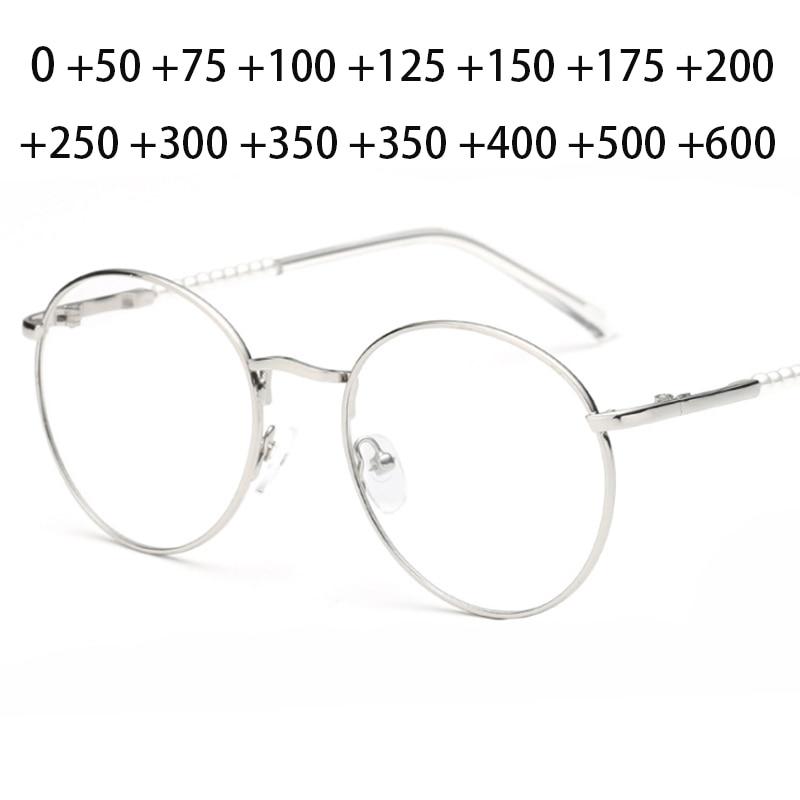 AliExpress - Retro Design Outdoor Sun Discoloration Reading Glasses Women Men Metal Round Farsighted Pearl Eyeglasses 0 +25 +50 +75 To +600