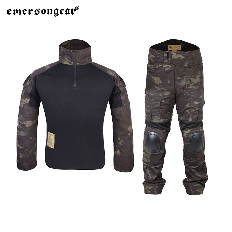 Emersongear Tactical Gen2 Combat Suit Shirts Pants Training Uniform Set Clothing Airsoft Hunting Military Outdoor Sport Multicam