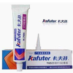Free shipping 2pc/lot Genuine Kafuter k-705 RTV Silicone Rubber Electronic Glue Sealant Transparent Organosilicon 45g