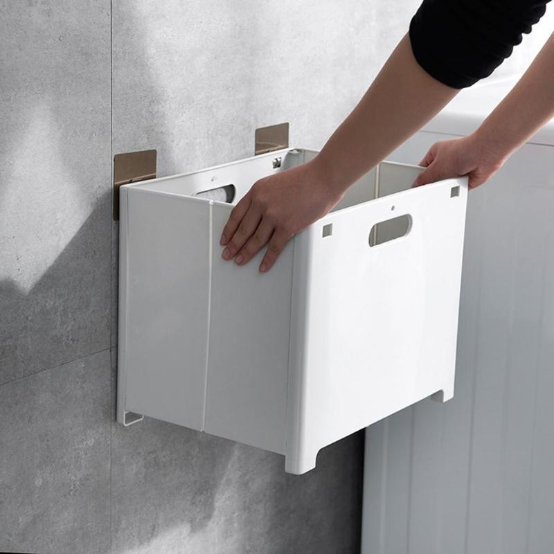 Cesta para colgar ropa sucia, cesta grande plegable de plástico para lavandería, cesta de almacenamiento impermeable para baño, cubo