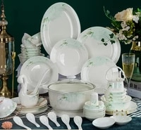 jingdezhen ceramic tableware dishes set home fresh simple bone porcelain chopsticks gift