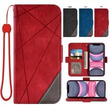 A sincere gift Spliced wallet mobile phone cover For Xiaomi mi 10 Xiaomi mi 10 Pro Credit card slot