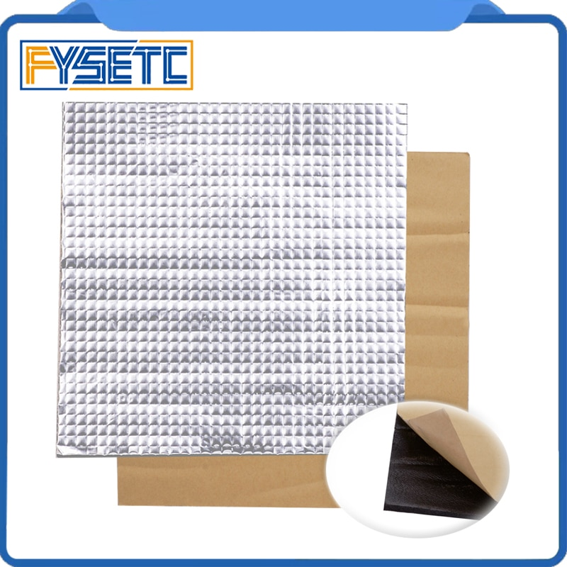 1PC Heating Bed Heat Insulation Cotton 200mm/300mm/400mm Foil Self-adhesive Insulation Cotton Sticker 10mm Thickness 3D Printer