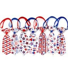 30 pces novo cão grooming acessórios 4th de julho eua independência dia do cão de estimação laço gravata cães acessórios pet produto