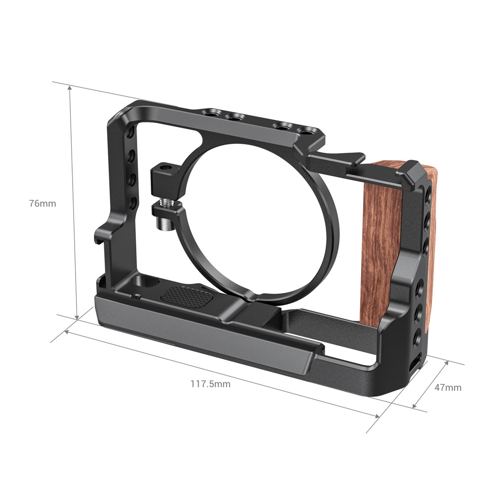 SmallRig Cage for Sony RX100 VII & RX100 VI Camera Feature w/ Wooden Side Handle Cold Shoe Mount Fr Microphone DIY Options 2434 enlarge