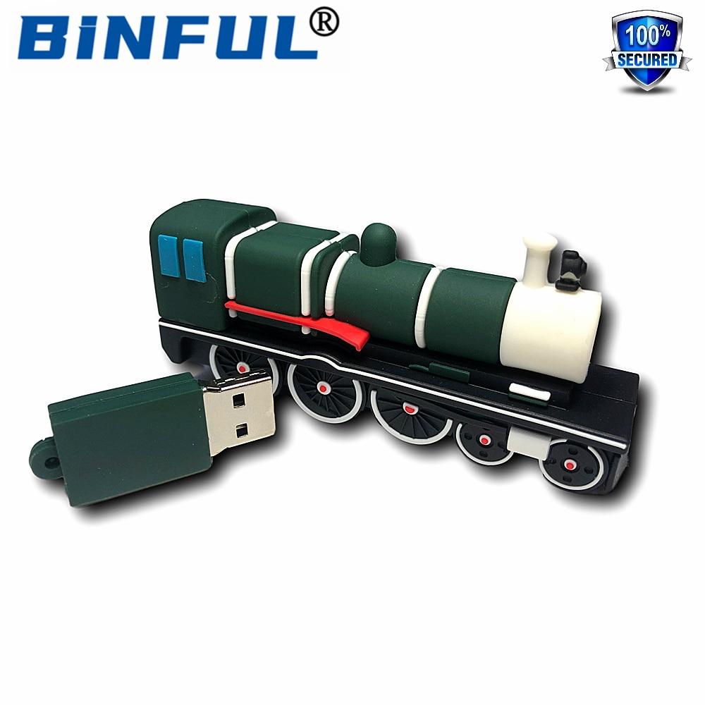 BINFUL мультфильм Новый поезд, USB флэш-накопитель 128 ГБ флэш-накопитель флешки 16 Гб оперативной памяти, 32 Гб встроенной памяти, 64 ГБ 128 ГБ 256 ГБ U ди...