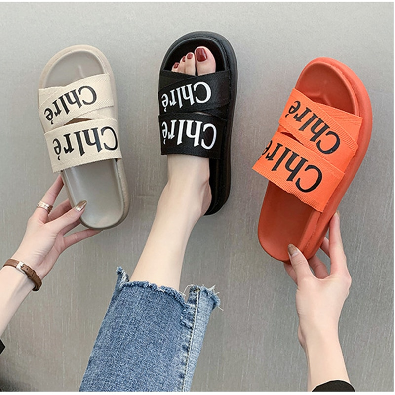 CINESSD Mesh 2020 Summer Slippers For Women New Platform Fashion Slipper Female Beach Slippers Women's Shoes  Slides Shoes Woman
