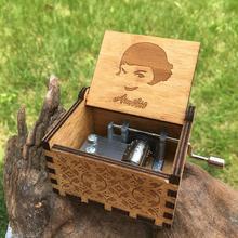 Boîte à musique en bois Antique reine   Gravure rétro, Game of Thrones anges, amour beauté, boîte à musique, cadeau heureux noël, vente en gros