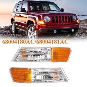 Front LED Fog Lights Lamps Turn Signal Light for Jeep Patriot 2007-2014