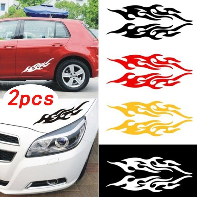 Автомобильные наклейки для защиты от царапин, персонализированные креативные наклейки с пламенем, автомобильные наклейки