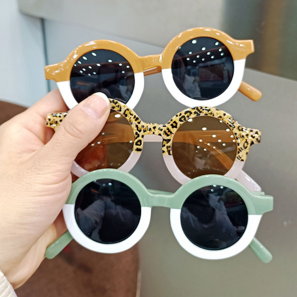2021fashion New Retro Round Frame Color Matching Kids Sunglasses Children Goggles Boys Girls  Outdoo