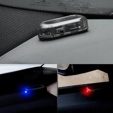 1 pièces voiture lumière Led système de sécurité avertissement vol Flash clignotant faux solaire voiture alarme lumière LED analogique alarme lumière
