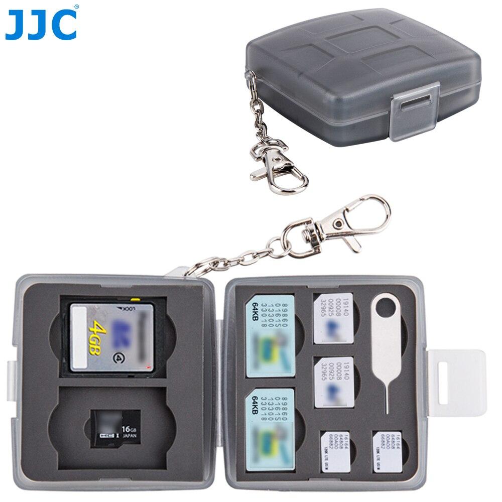 Jjc Sd Cf Tf Sim Nano Simkaart Waterbestendig Camera Memory Card Storage Case Compact Tough Doos