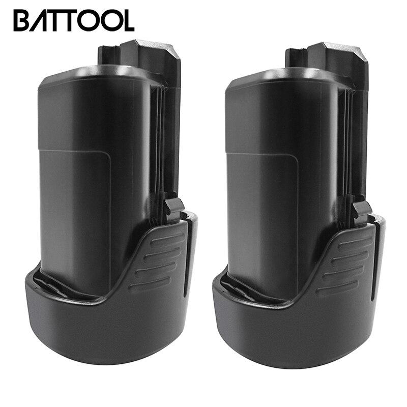 BATTOOL 2 uds para Bosch BAT411 batería 12 V 2.0Ah batería de iones de litio de BAT411A BAT412 BAT412A BAT413 BAT413A