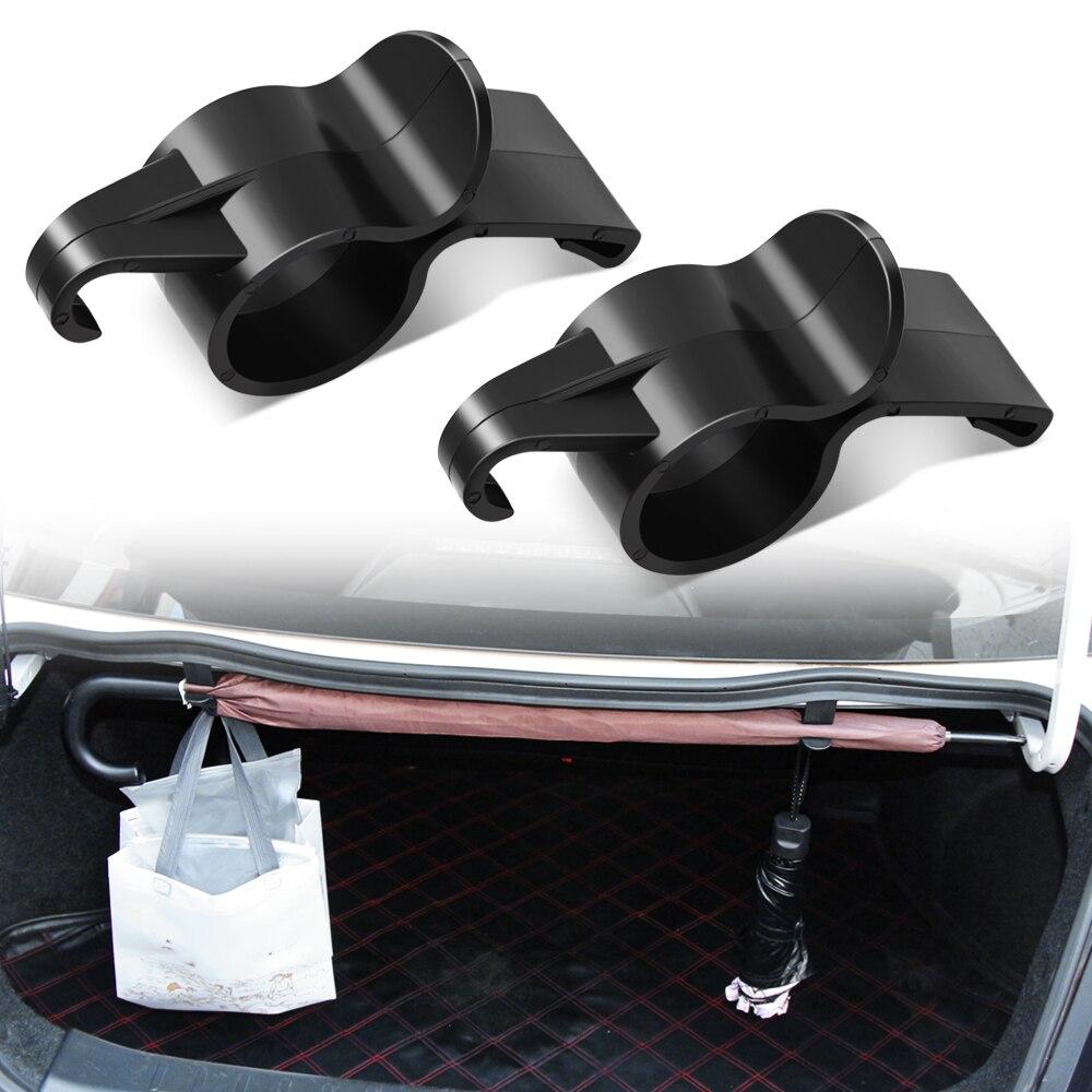2 unids/lote soporte de paraguas organizador de maletero de coche para Audi A3 A4 A5 A6 Skoda Octavia Renault Megane Ford Focus Fiesta