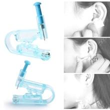 BOLUOYIN, 3 uds., indoloro, desechable, Asepsis saludable, pistola para Piercing de oreja, Kit azul, sin dolor, herramientas para tatuaje de Piercing de oreja