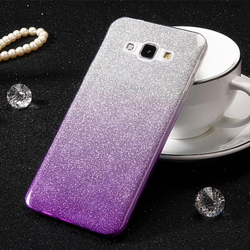 Luxo glitter bling estojo para samsung galaxy j5 2016 j510 j510f j510fn j5 2017 j530 j530f capa de silicone macio fundas