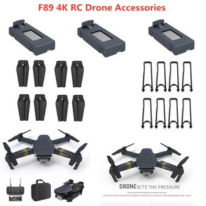 F89 4K RC Drone Spare Part 3.7V 1600mAh Battery Propeller USB F89 RC Drone Accessories F89 Drone Blade Protect Frame F89 Battery